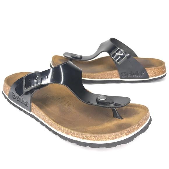 Birkenstock Shoes - Betula by Birkenstock Rose Black Sandals SH0687
